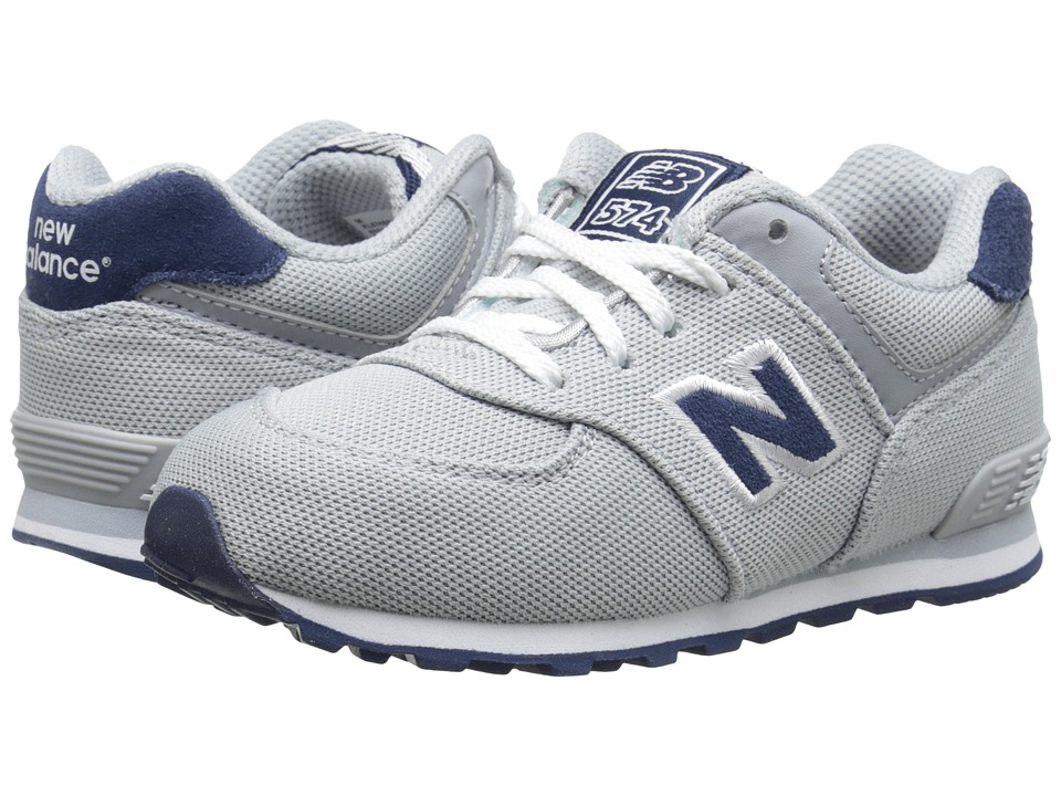 New Balance Kids - KL574 (Infant/Toddler) (Grey/Navy) Boys Shoes