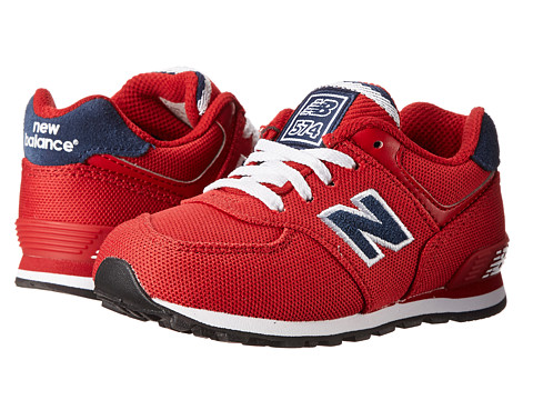 New Balance Kids - KL574 (Infant/Toddler) (Red/Navy) Boys Shoes