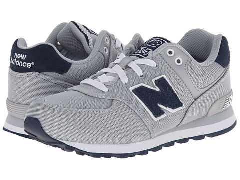 New Balance Kids - KL574 (Little Kid) (Grey/Navy) Boys Shoes