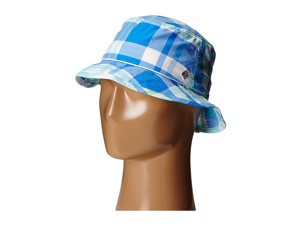 Columbia - Bahama Bucket Hat (Harbor Blue Shadow Check) Bucket Caps