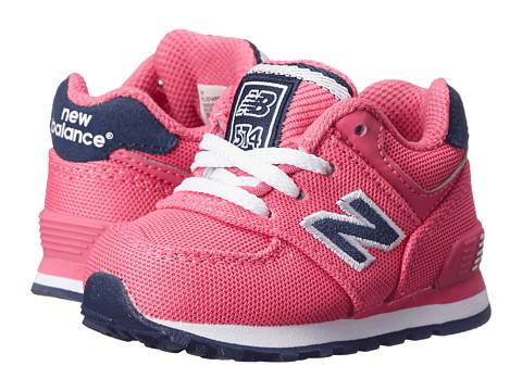New Balance Kids - KL574 (Infant/Toddler) (Pink/Navy) Girls Shoes