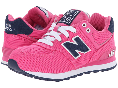 New Balance Kids - KL574 (Little Kid) (Pink/Navy) Girls Shoes