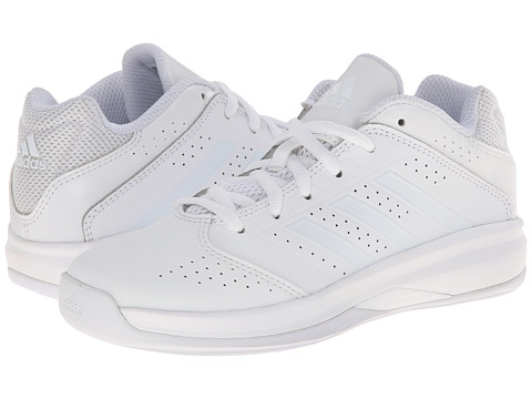 adidas Kids - Isolation 2 Low K (Little Kid/Big Kid) (White/White/White) Boys Shoes