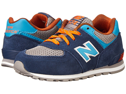 New Balance Kids - KL574 (Infant/Toddler) (Blue/Brown) Boys Shoes