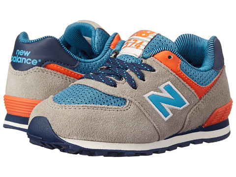 New Balance Kids - KL574 (Infant/Toddler) (Brown/Blue) Boys Shoes