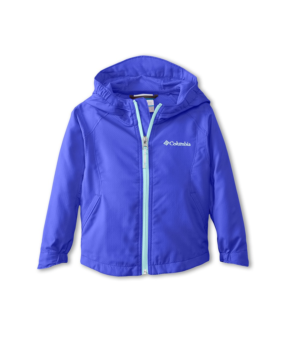 Columbia Kids - Splash Flash II Hooded Softshell Jacket (Toddler) (Light Grape/Candy Mint) Girl's Jacket