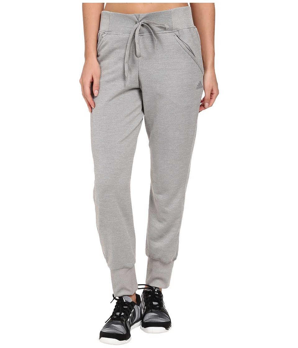 adidas - Beyond The Run Cuffed Track Pant (Medium Grey Heather) Women's Casual Pants