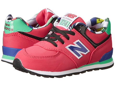 New Balance Kids - KL574 (Infant/Toddler) (Pink Tropical) Girls Shoes