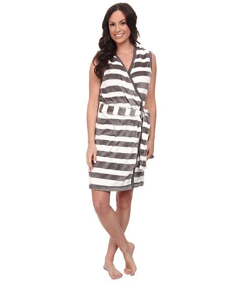 UGG - Ashlie Robe (Charcoal Stripe) Women's Robe