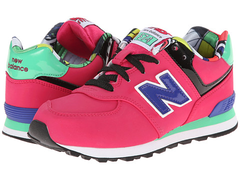 New Balance Kids - KL574 (Little Kid) (Pink Tropical) Girls Shoes