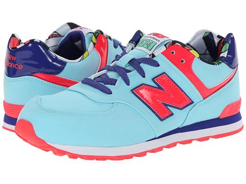 New Balance Kids - KL574 (Big Kid) (Blue Tropical) Girls Shoes