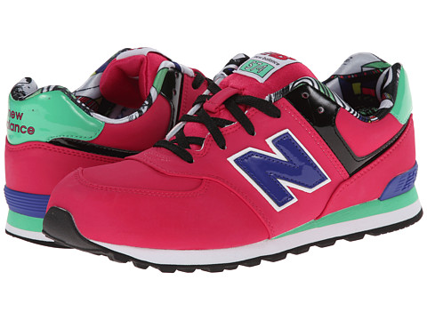 New Balance Kids - KL574 (Big Kid) (Pink Tropical) Girls Shoes