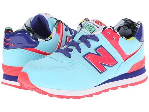 New Balance Kids - KL574 (Little Kid) (Blue Tropical) Girls Shoes