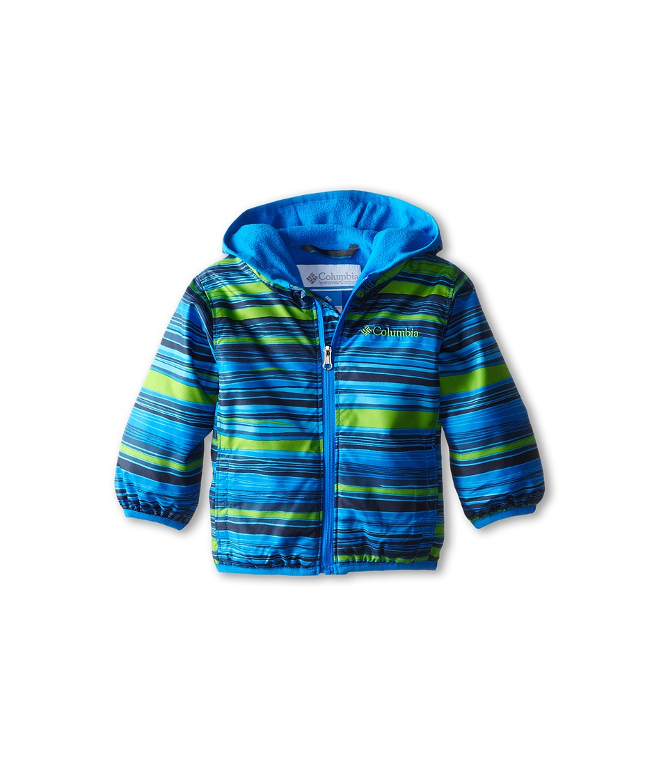Columbia Kids - Mini Pixel Grabber II Wind Jacket (Infant/Toddler) (Hyper Blue Print/Hyper Blue) Boy