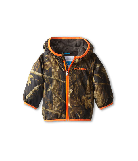 Columbia Kids - Mini Pixel Grabber II Wind Jacket (Infant/Toddler) (Timberwolf/Buffalo/Blaze) Boy's Coat