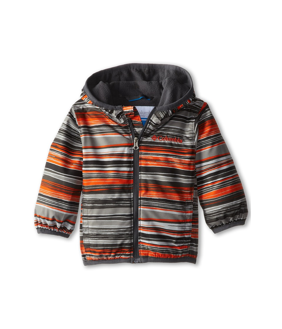 Columbia Kids - Mini Pixel Grabber II Wind Jacket (Infant/Toddler) (Tangy Orange Print/Grill) Boy's Coat