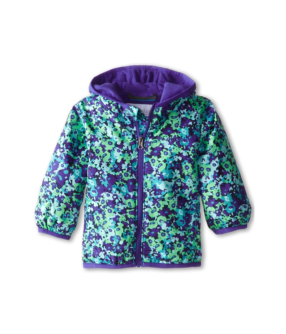 Columbia Kids - Mini Pixel Grabber II Wind Jacket (Infant/Toddler) (Light Grape Print/Light Grape) Girl