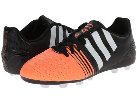 adidas Kids - Nitrocharge 4.0 FxG J (Little Kid/Big Kid) (Black/White/Flash Orange) Kids Shoes