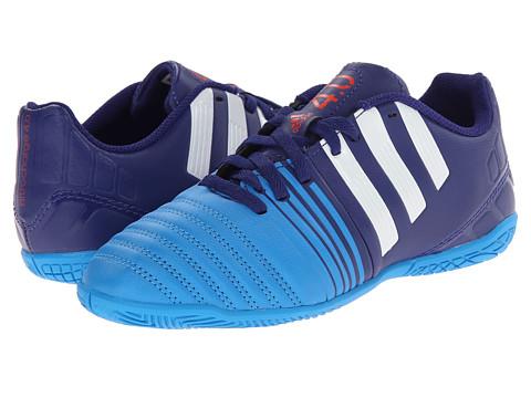 adidas Kids - Nitrocharge 4.0 IN J (Little Kid/Big Kid) (Amazon Purple/White/Lucky Blue) Kids Shoes
