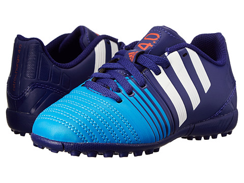 adidas Kids - Nitrocharge 4.0 TF J (Little Kid/Big Kid) (Amazon Purple/White/Lucky Blue) Kids Shoes