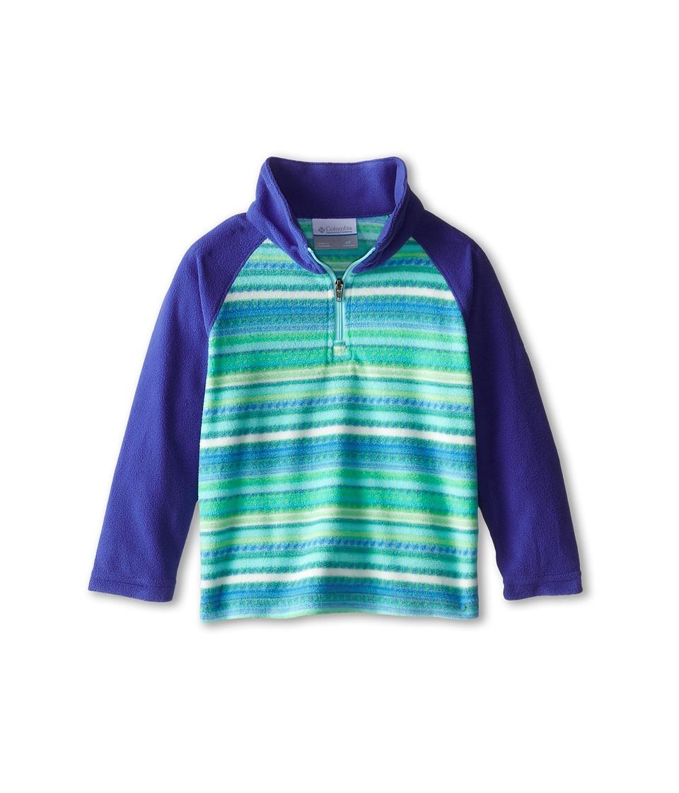 Columbia Kids - Glacial Fleece Print Half Zip (Toddler) (Light Grape Stripe/Light Grape) Girl
