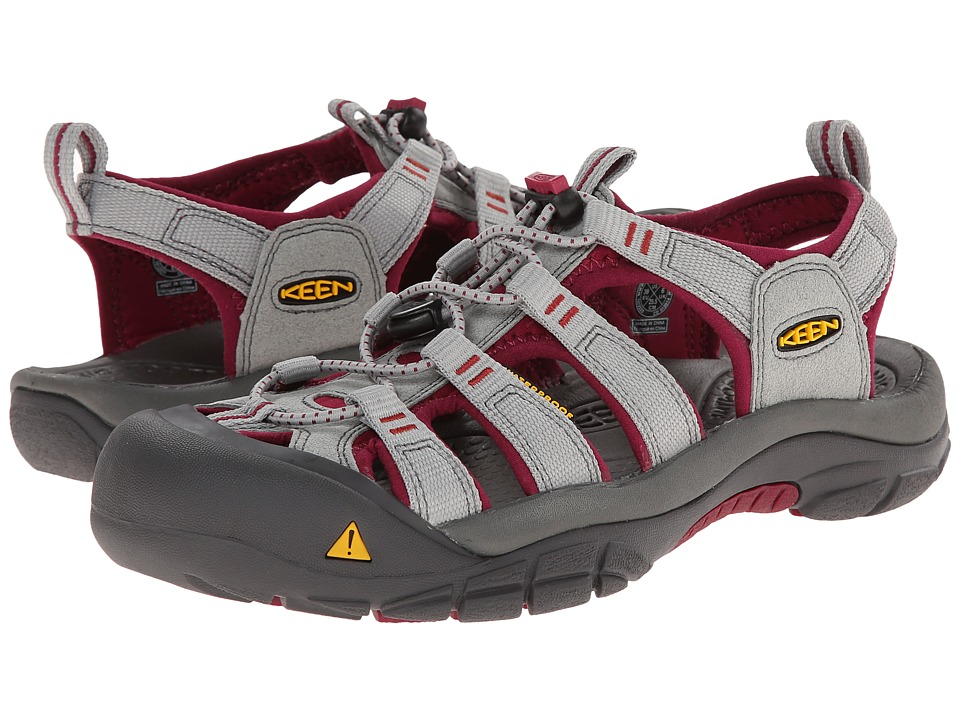Keen Newport H2 (Neutral Gray/Beet Red) Women
