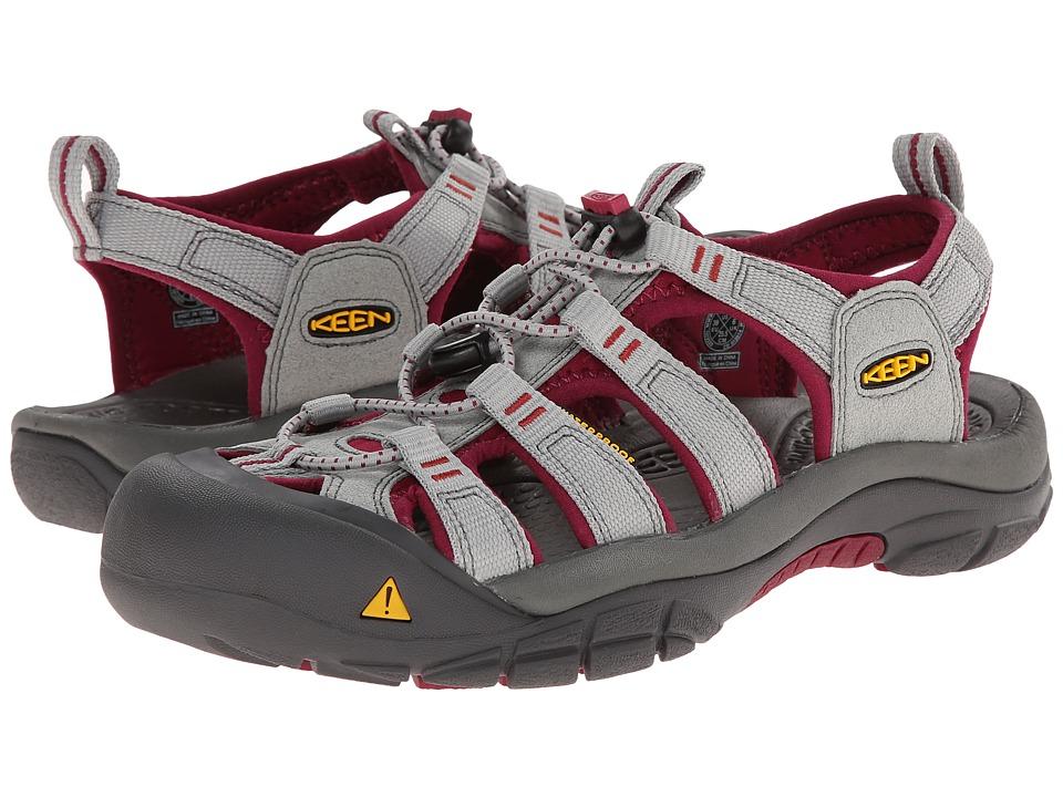Keen - Newport H2 (Neutral Gray/Beet Red) Women's Shoes