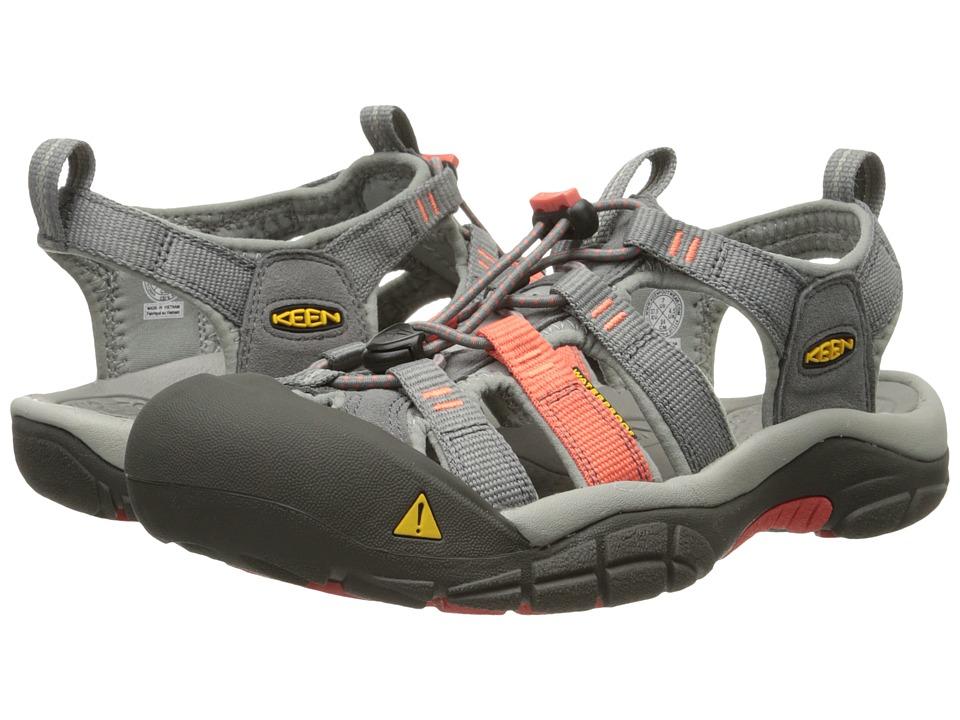 Keen - Newport H2 (New Gargoyle/Hot Coral) Women's Shoes