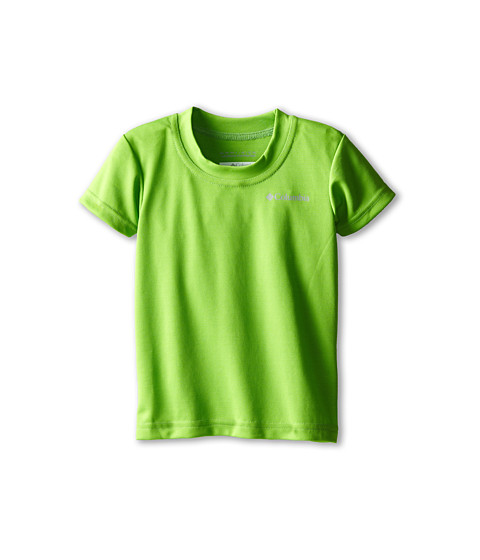 Columbia Kids - Meeker Peak II Short Sleeve Top (Toddler) (Cyber Green) Boy's T Shirt