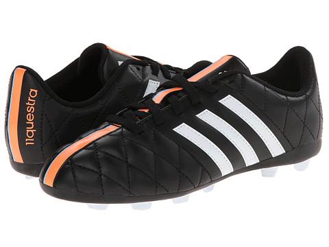 adidas Kids - 11Questra FxG J (Little Kid/Big Kid) (Black/White/Flash Orange) Kids Shoes