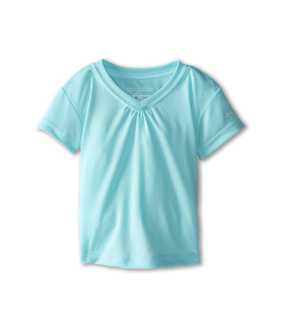 Columbia Kids - Meeker Peak Short Sleeve Top (Toddler) (Candy Mint) Girl's T Shirt