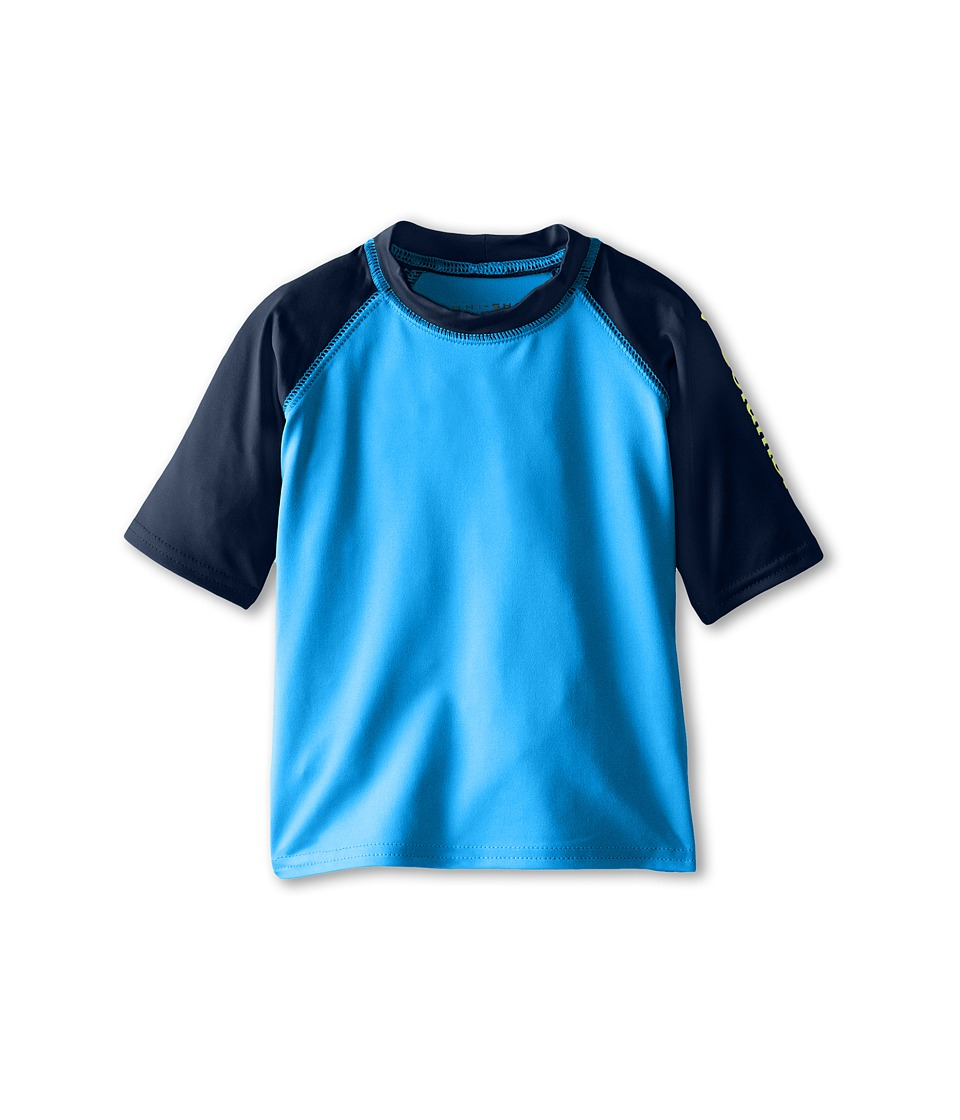 Columbia Kids - Mini Breaker II S/S Sunguard Top (Toddler) (Hyper Blue/Collegiate Navy/Chartreuse) Boy's T Shirt
