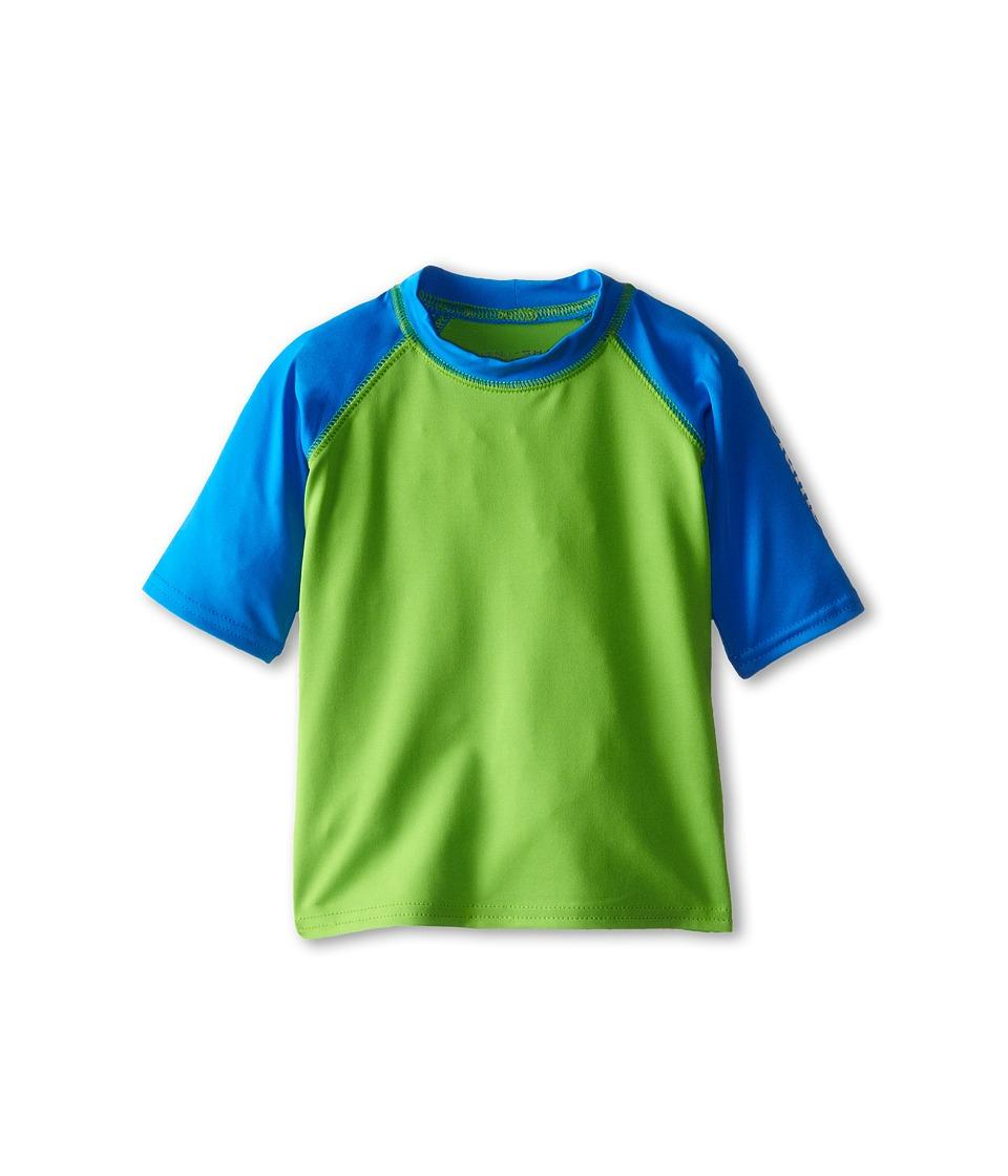 Columbia Kids - Mini Breaker II S/S Sunguard Top (Toddler) (Cyber Green/Hyper Blue/White) Boy