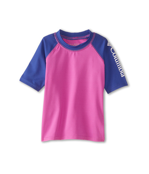 Columbia Kids - Mini Breaker II S/S Sunguard Top (Toddler) (Foxglove/Light Grape/White) Girl