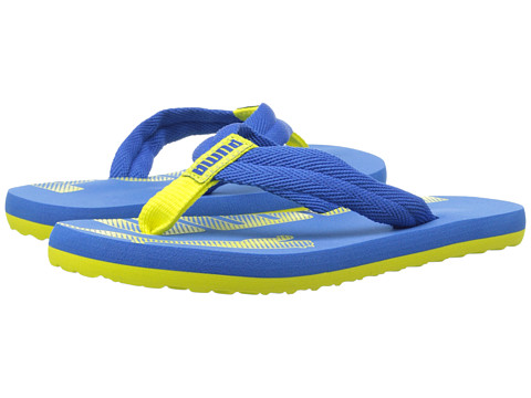 Puma Kids - Epic Flip Jr (Little Kid/Big Kid) (Strong Blue/Fluorescent Yellow) Boys Shoes