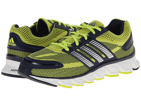 adidas Kids - Powerblaze K (Little Kid/Big Kid) (Semi Solar Yellow/Silver Metallic/Collegiate Navy) Boys Shoes