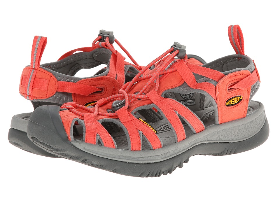 Keen - Whisper (Hot Coral/Neutral Gray) Women's Sandals