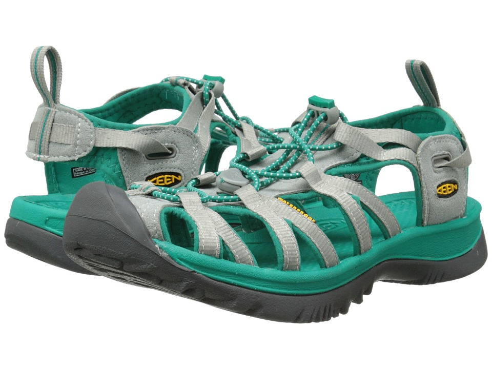 Keen - Whisper (Neutral Gray/Dynasty Green) Women's Sandals