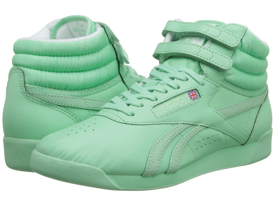 Reebok - Freestyle Hi Spirit (Mint Glow/White) Women's Classic Shoes