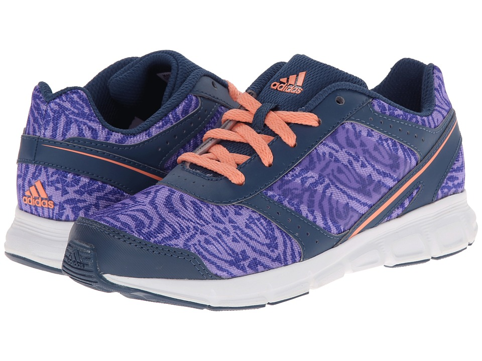 adidas Kids - Hyperfast K - Print (Little Kid/Big Kid) (Light Flash Purple/Vista Blue/Semi Flash Orange) Girls Shoes