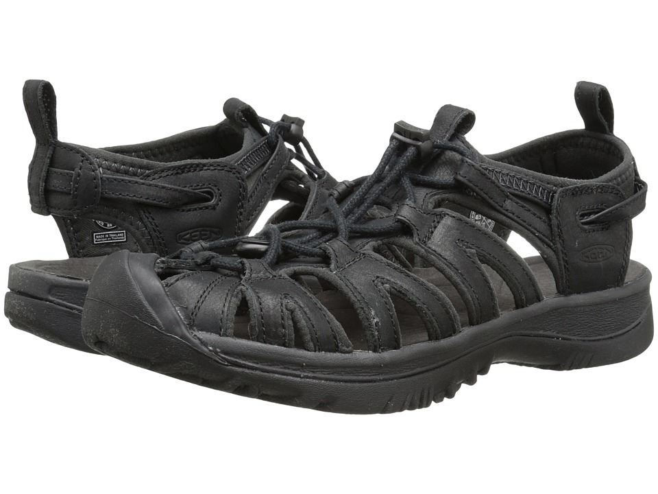Keen - Whisper Leather (Black/Raven) Women's Shoes
