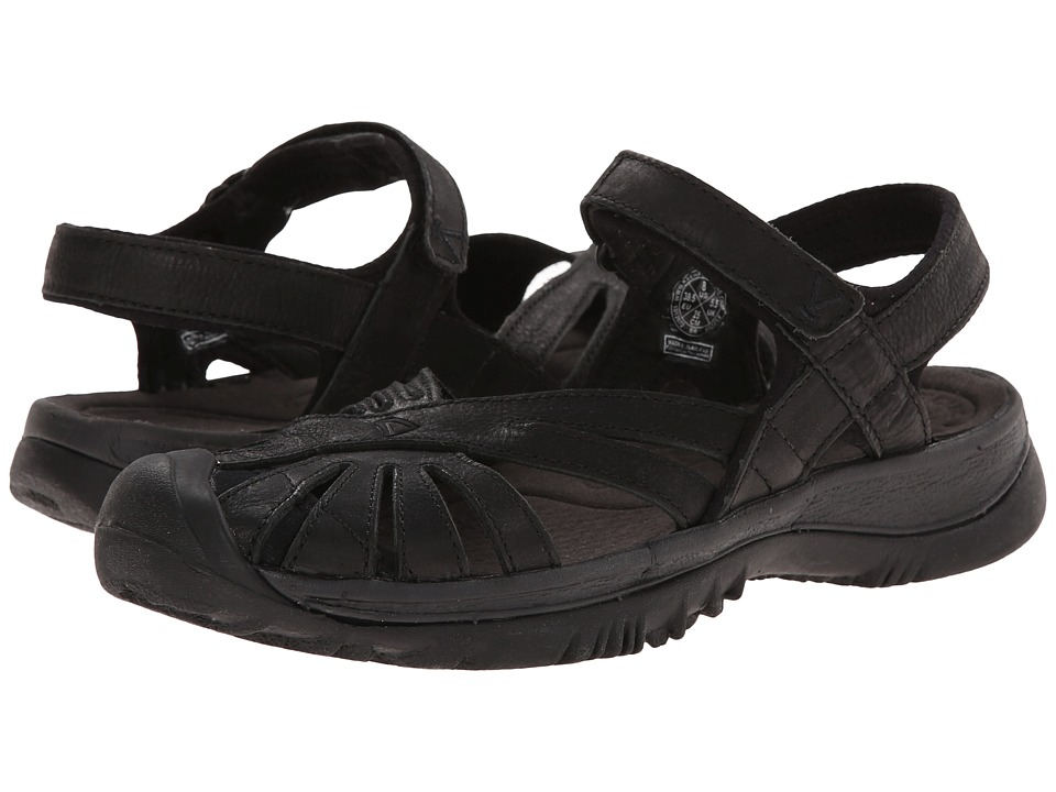 Keen - Rose Leather (Black/Raven) Women's Shoes