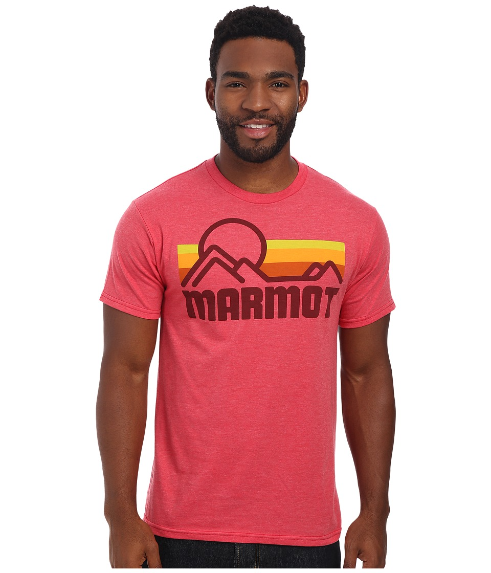 Marmot - Marmot Coastal Tee S/S (Red Heather) Men's Short Sleeve Pullover