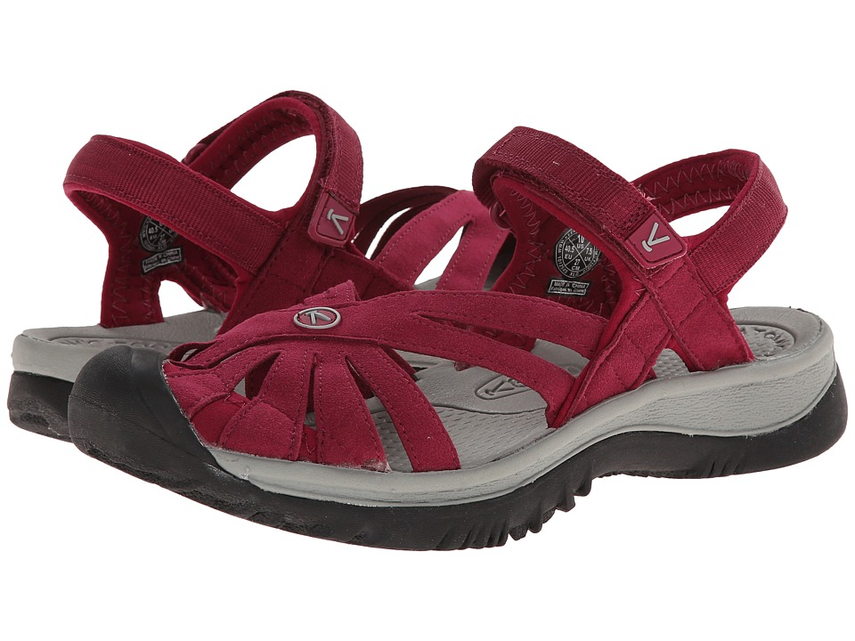 Keen - Rose Sandal (Beet Red/Neutral Gray) Women's Shoes
