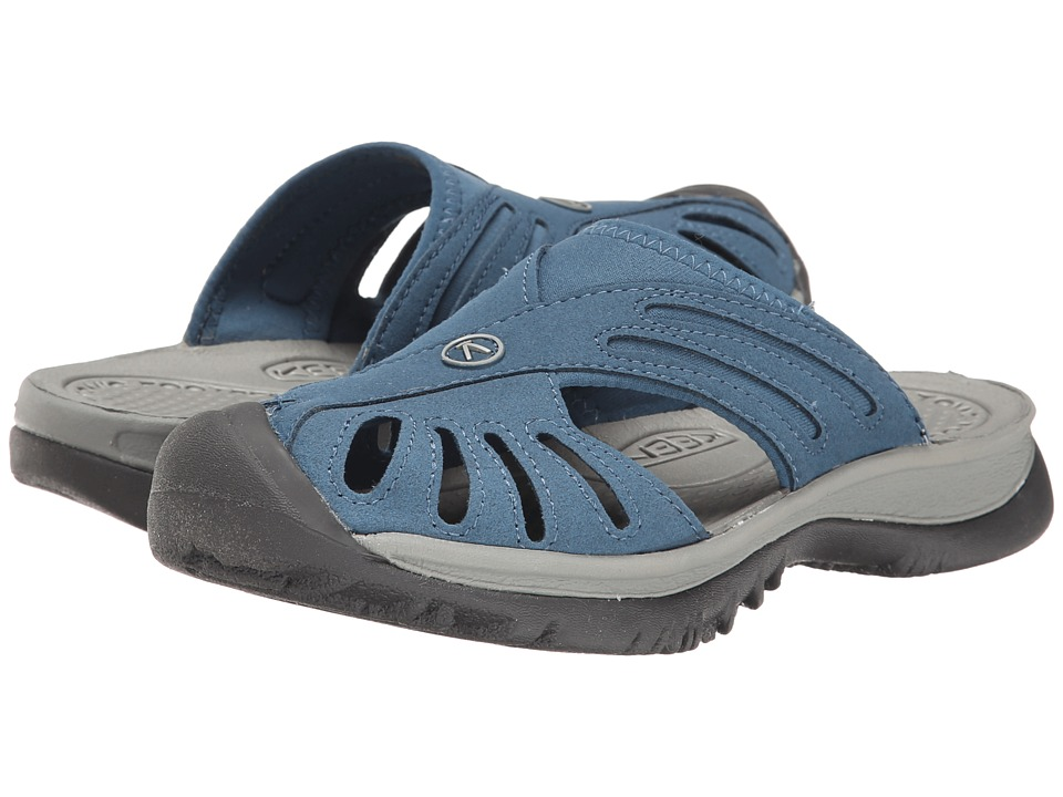 Keen Rose Slide (Indial Teal/Neutral Gray) Women