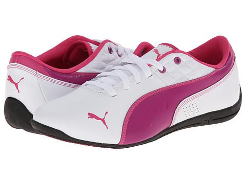 Puma Kids - Drift Cat 6 L Jr (Little Kid/Big Kid) (White/Vivid Viola/Beetroot Purple) Girls Shoes