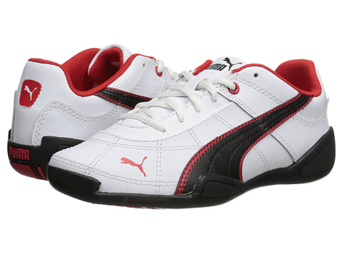 Puma Kids - Tune Cat B 2 Jr (Little Kid/Big Kid) (White/Black/High Risk Red) Boys Shoes