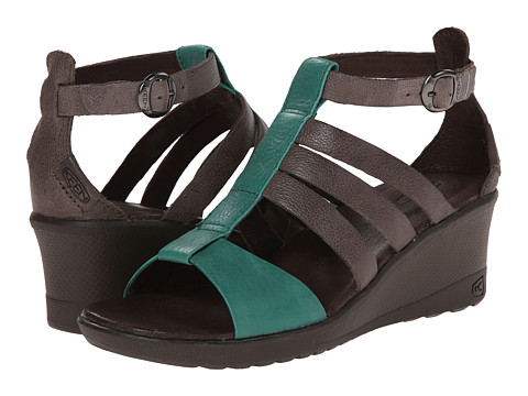 Keen - Victoria Sandal (Cascade Brown) Women's Wedge Shoes