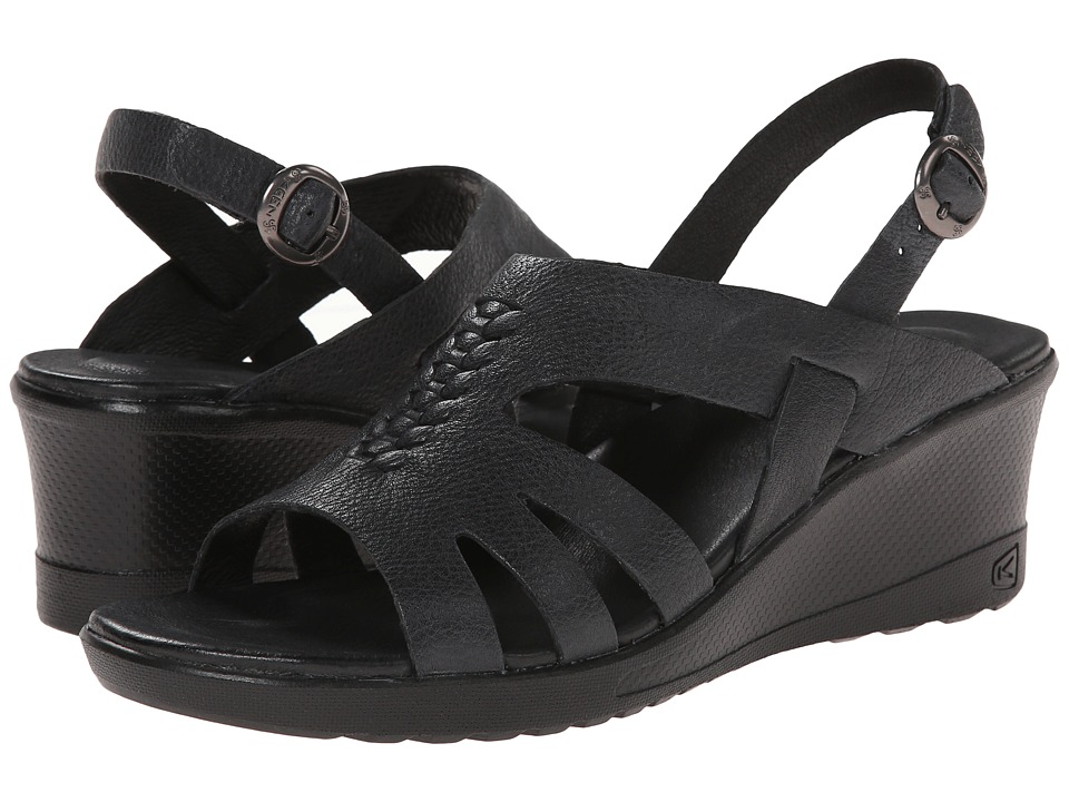 Keen - Elizabeth (Black) Women's Wedge Shoes