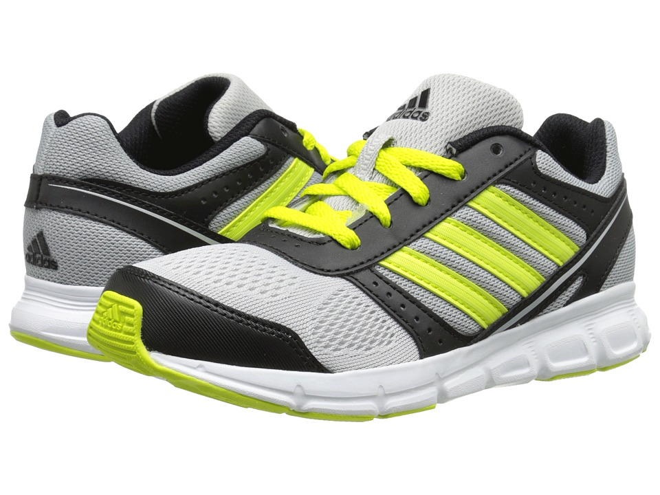 adidas Kids - Hyperfast K (Little Kid/Big Kid) (Silver Metallic/Semi Solar Yellow/Black) Boys Shoes